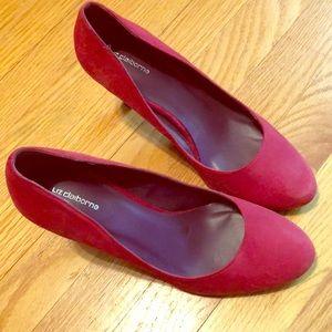 Liz Clairborne red heels